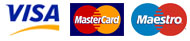 Cartes de crédit acceptées